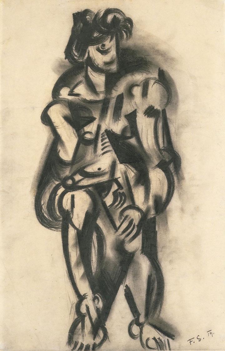フランツ・ジィンガー《男性の裸身 (イッテンの授業にて) 》1919年、ミサワホーム株式会社