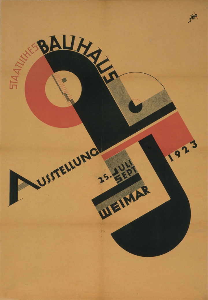 Joost Schmidt, Poster for the Bauhaus Exhibition in 1923, 1923, Misawa Homes Co., LTD.