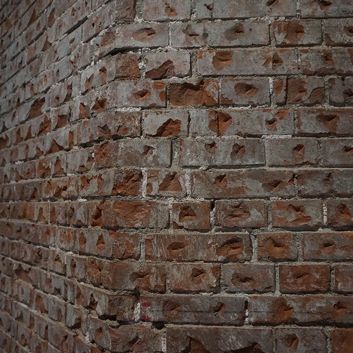 Roughening of the brick walls