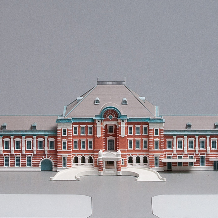 Model of the Tokyo Station building after WWII